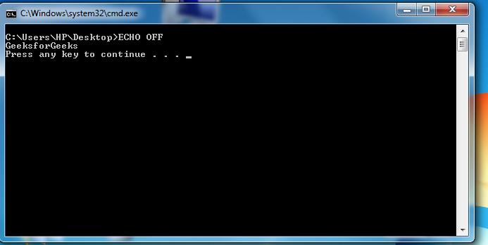 Writing a Windows batch script - GeeksforGeeks