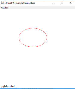 Draw A Ellipse And A Rectangle In Java Applet Geeksforgeeks