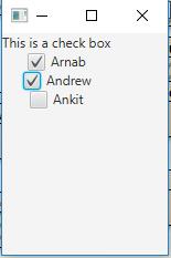JavaFX | Checkbox - GeeksforGeeks