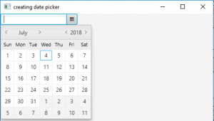 JavaFX | DatePicker with examples - GeeksforGeeks