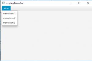 JavaFX | MenuBar and Menu - GeeksforGeeks
