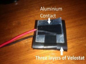 Our homemade sensor.