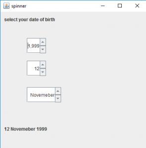 Java Swing | JSpinner - GeeksforGeeks