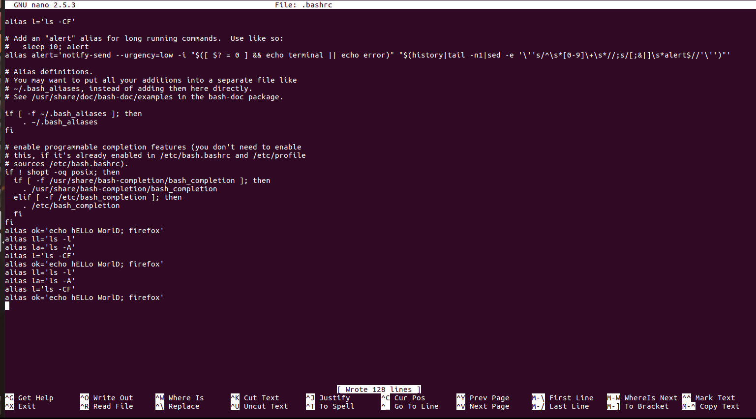 Custom commands for linux terminal - GeeksforGeeks