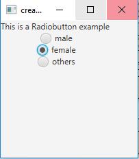 JavaFX   RadioButton with examples - GeeksforGeeks