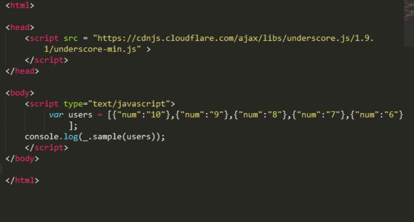 Underscore js | _ sample() - GeeksforGeeks