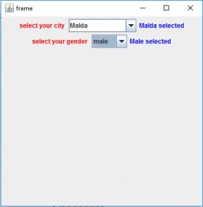 Java Swing | JComboBox with examples - GeeksforGeeks