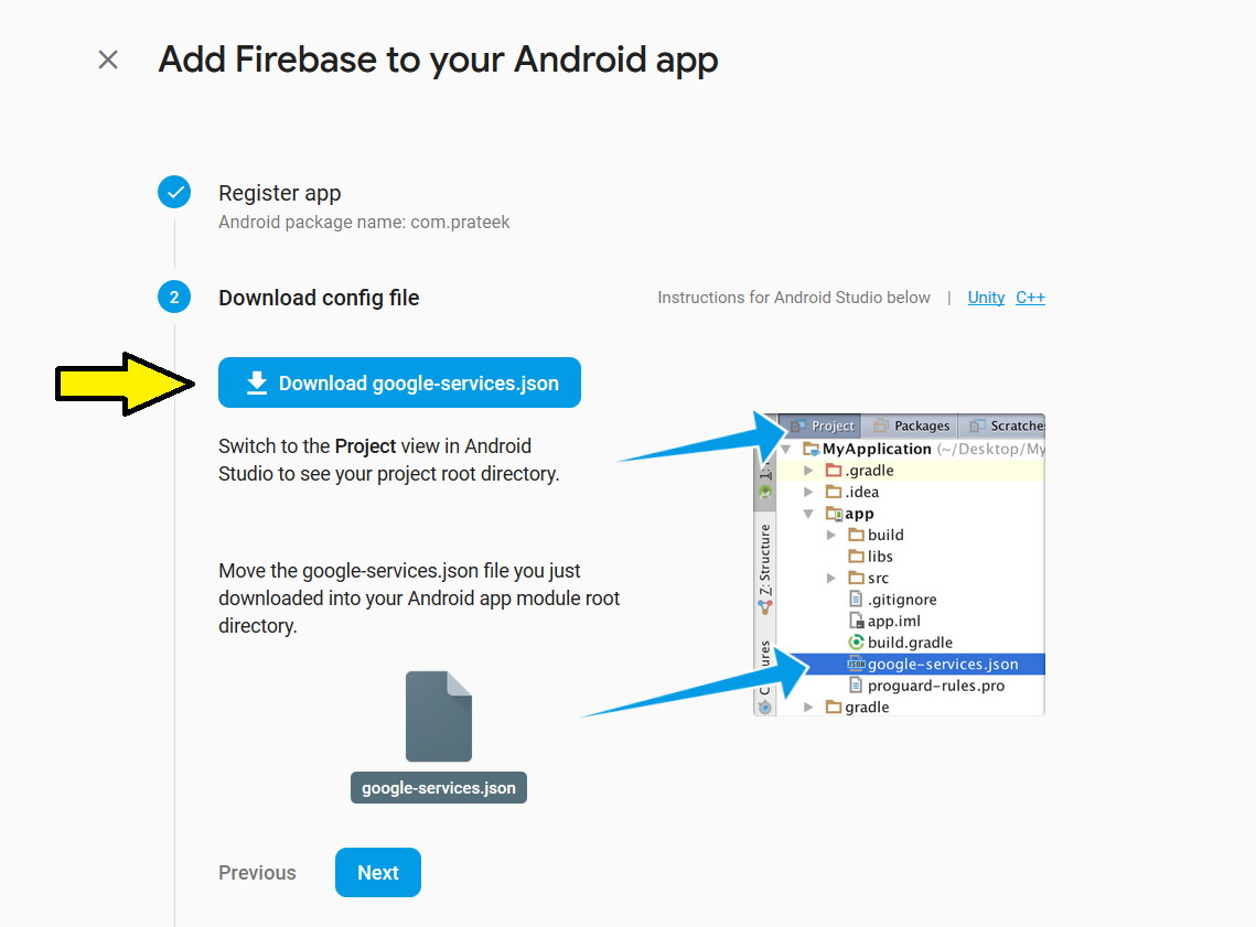 Adding Firebase to Android App - GeeksforGeeks