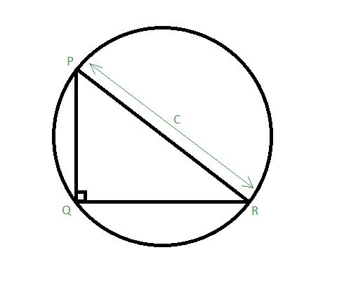Area of Circumcircle of a Right Angled Triangle - GeeksforGeeks