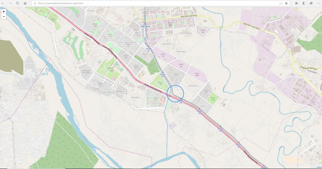 Python | Plotting Google Map using folium package - GeeksforGeeks