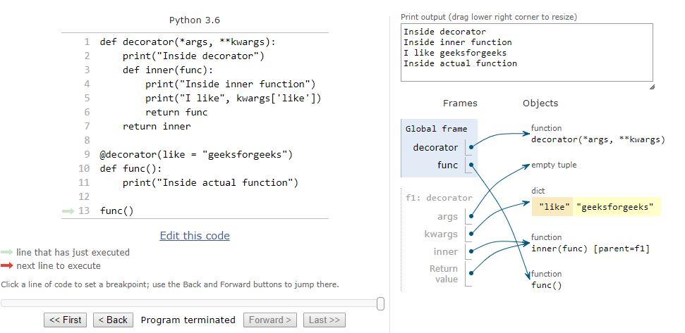 Decorators with parameters in Python - GeeksforGeeks