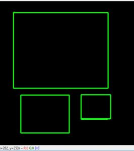 Python | Draw rectangular shape and extract objects using
