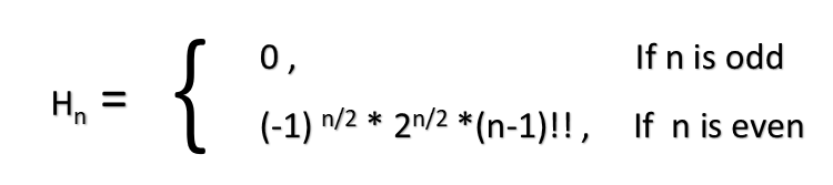 Hermite number equation