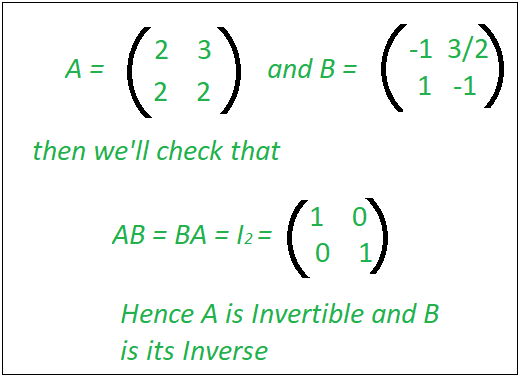 Check if a Matrix is Invertible - GeeksforGeeks