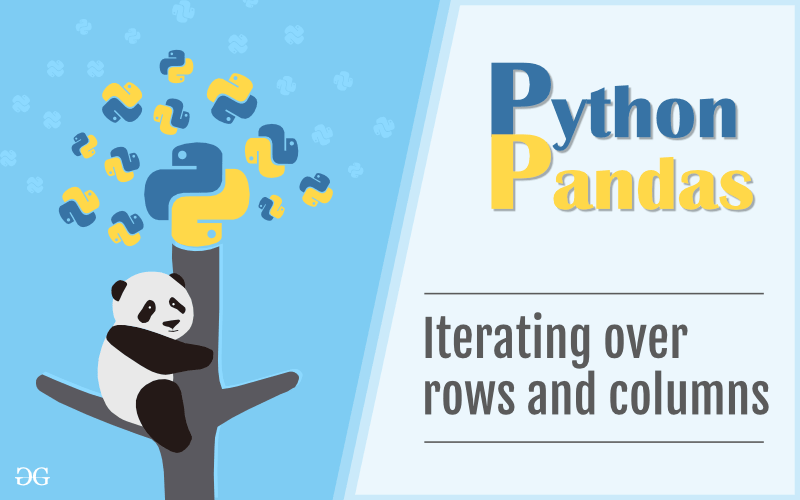 Iterating over rows and columns in Pandas DataFrame