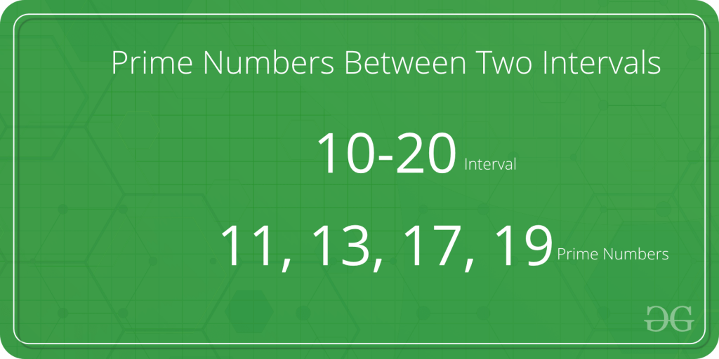 Program to find Prime Numbers Between given Interval - GeeksforGeeks