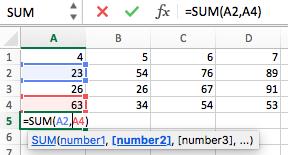 Excel VBA   sum() functions - GeeksforGeeks