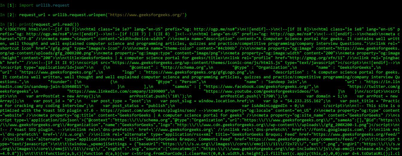 Python Urllib Module - GeeksforGeeks