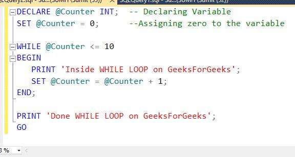 SQL SERVER | Conditional Statements - GeeksforGeeks