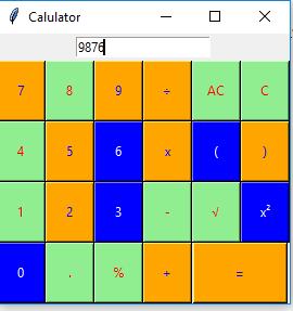 Python | Simple calculator using Tkinter - GeeksforGeeks