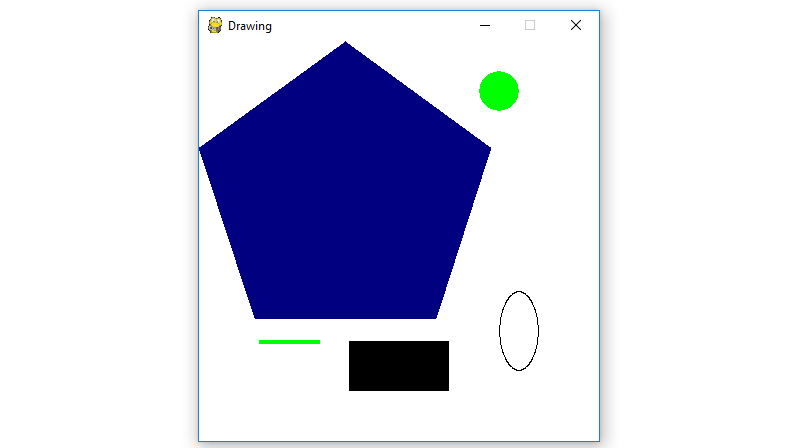 Python | Drawing different shapes on PyGame window - GeeksforGeeks