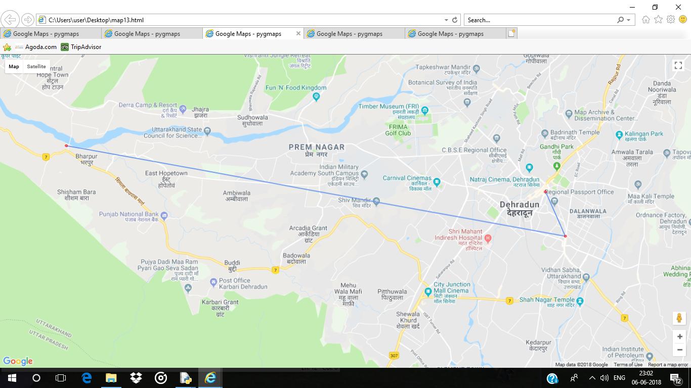 Python | Plotting Google Map using gmplot package - GeeksforGeeks