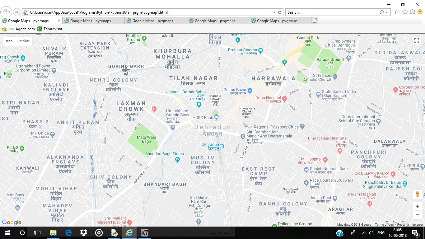 Python | Plotting Data on Google Map using pygmaps package