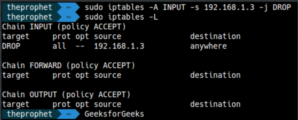 How to setup firewall in Linux? - GeeksforGeeks