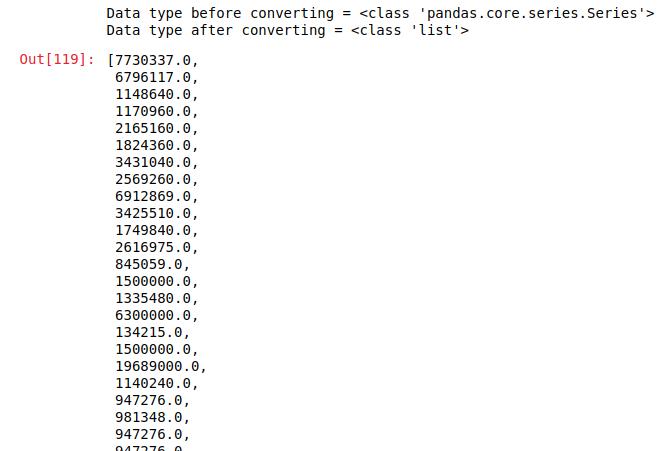 Python | Pandas Series tolist() - GeeksforGeeks