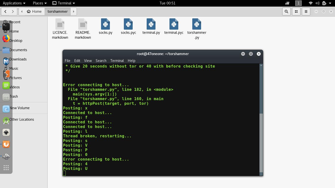 Perform DDoS attack using Torshammer - GeeksforGeeks