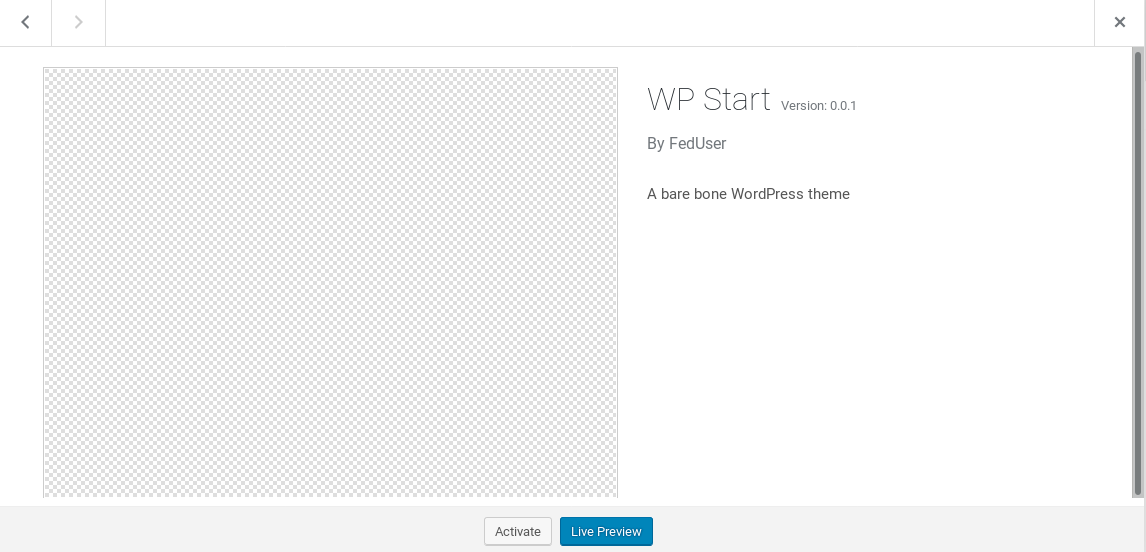 WP Start Preview
