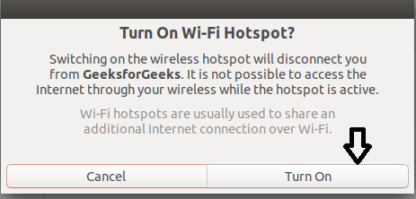 Creating and Configuring Wi-Fi Hotspot in Ubuntu - GeeksforGeeks