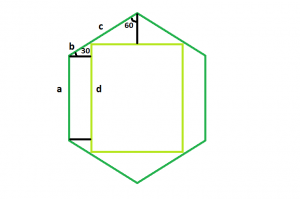 Largest Square that can be inscribed within a hexagon