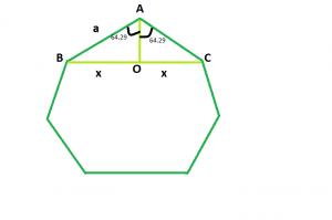 Diagonal of a Regular Heptagon - GeeksforGeeks