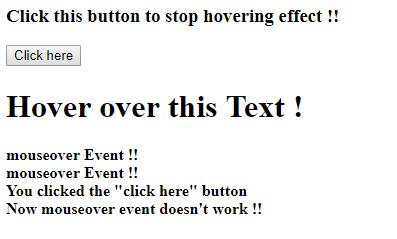 JavaScript | removeEventListener() method with examples - GeeksforGeeks