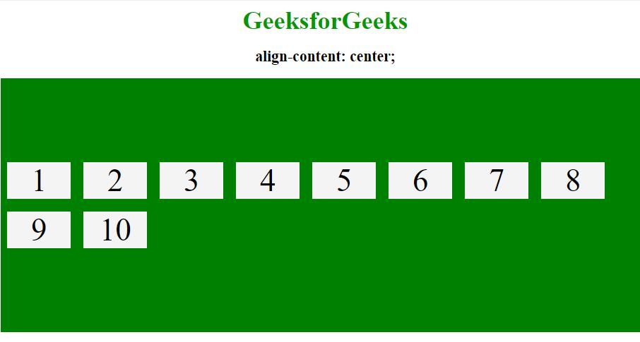 align content center