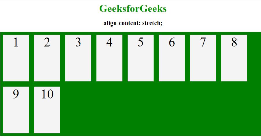 align content stretch