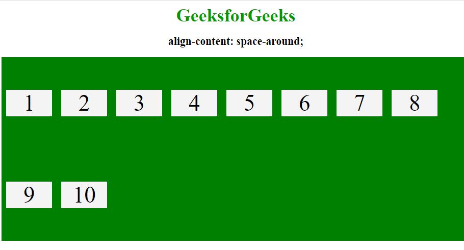 align-content space-around
