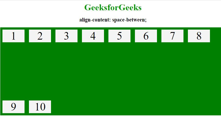 align-content space between