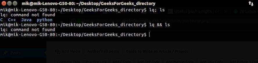 Useful and time saving bash commands in Linux - GeeksforGeeks