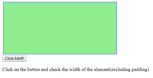 jQuery   width() - GeeksforGeeks