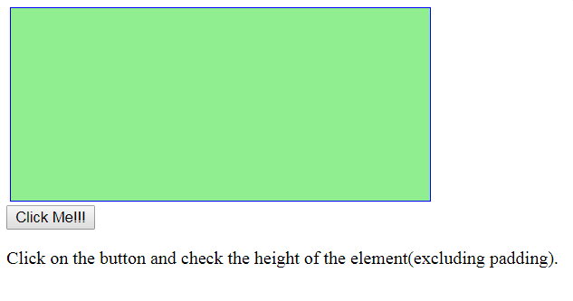 jQuery | height() and innerHeight() with Examples
