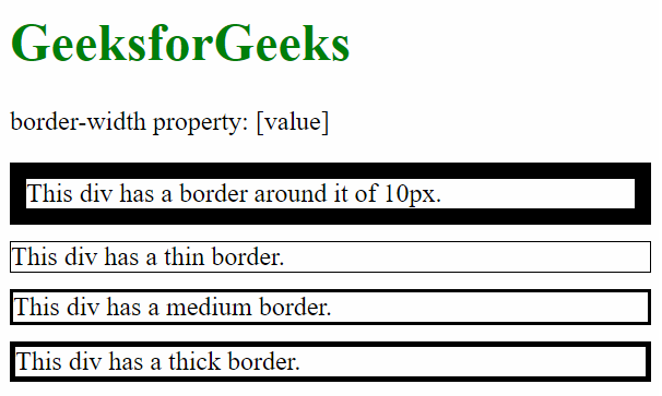 border-width with one value
