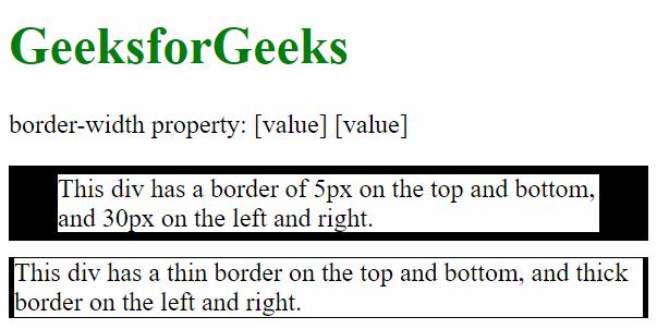 CSS | border-width Property - GeeksforGeeks