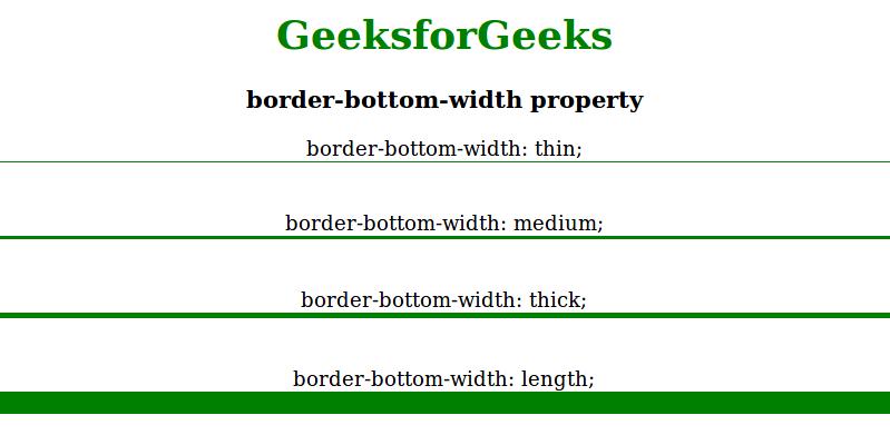 Border width bottom