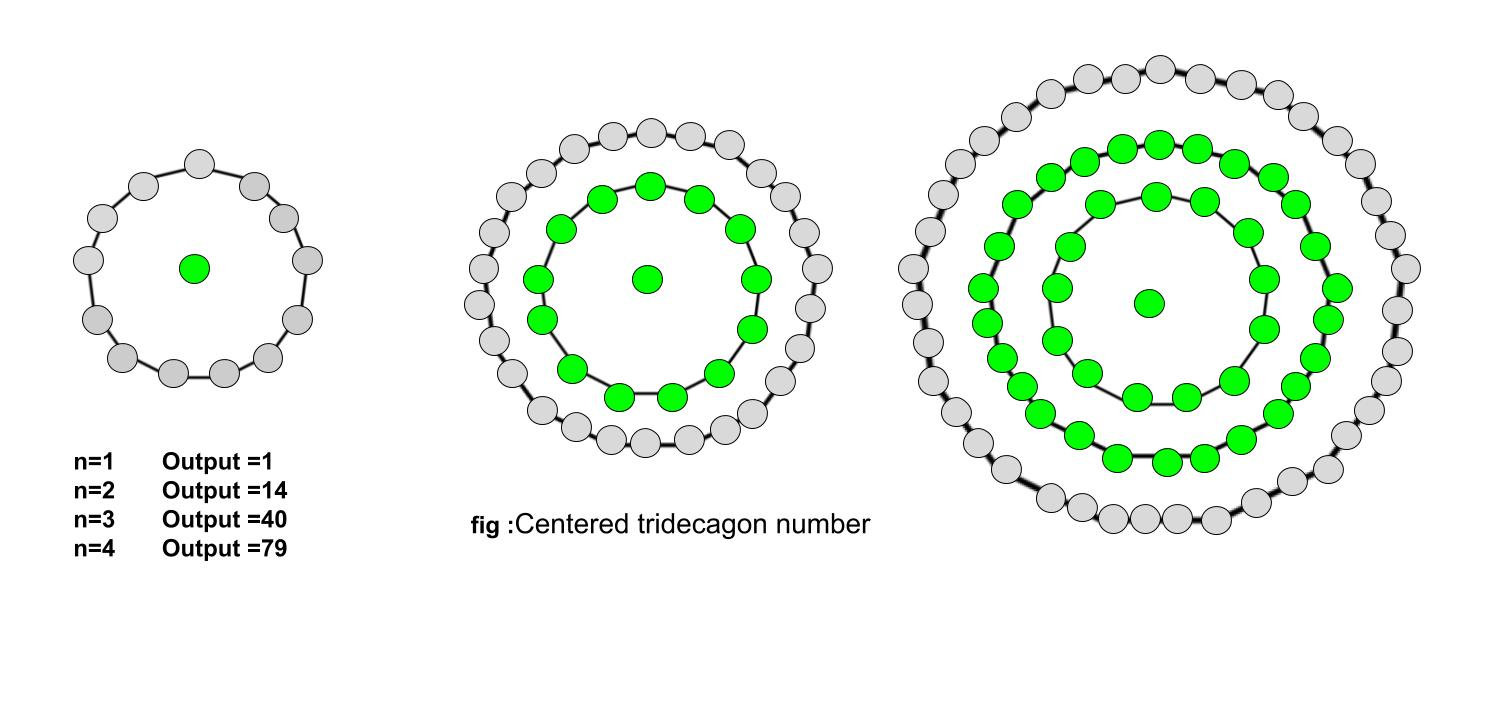 centered tridecagonal number