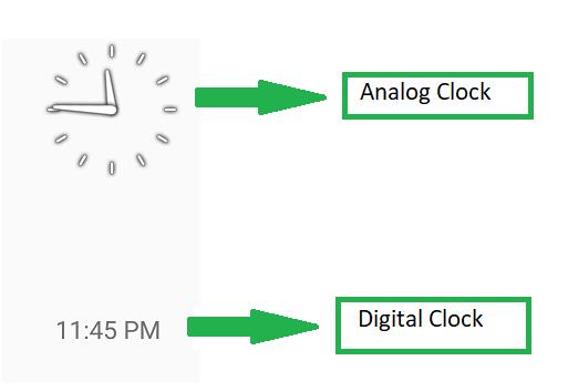Android   How to display Analog clock and Digital clock - GeeksforGeeks