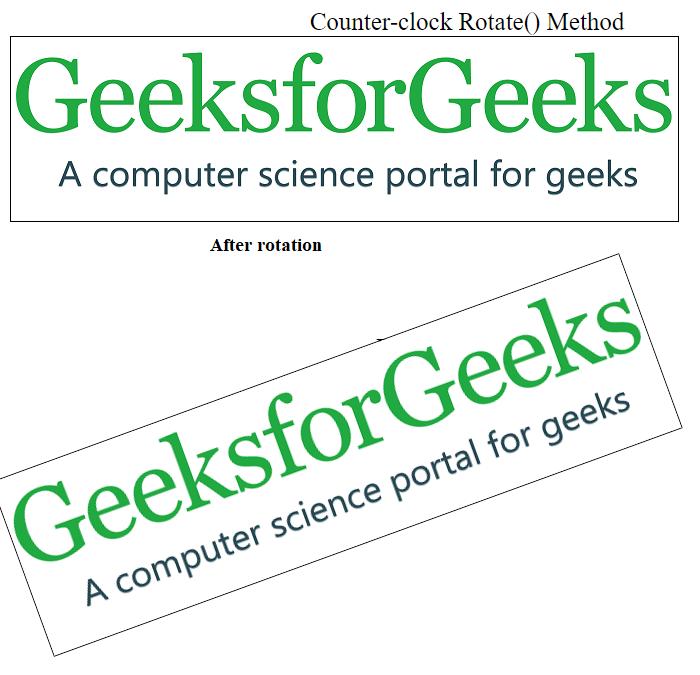CSS | 2D Transforms - GeeksforGeeks