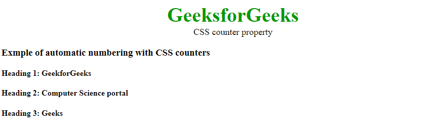 css counter property