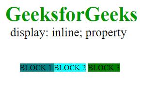 display inline property